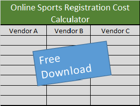 sports registration cost comparision