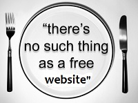 whar are the problems with a free websites